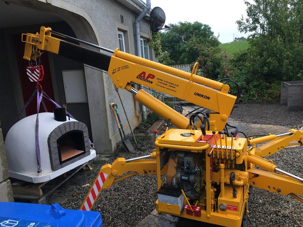 AP Crane Services Mini Spider Hire Northen Ireland